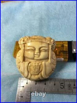 FINE Carving mermaid NETSUKE Edo or Meiji Period Antique