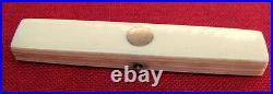 FINE & RARE ROSE GOLD CARVED SMALL POCKET TOOTHPICK HOLDER ORIGINAL MIRROR c1790