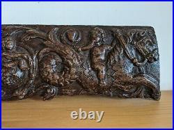 Fine 16th Century Carved Oak Frieze Panel