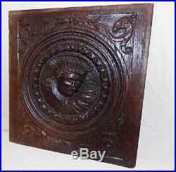 Fine 16th Century Henry VIII Carved Oak Panel c1540