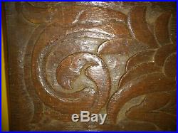 Fine 17th Century Welsh Carved Oak Dragon Panel c1680-1700