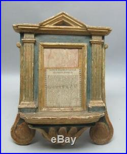 Fine 18th C. ITALIAN CARVED WOOD & Gesso Bible Stand c. 1750 antique santos