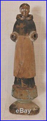 Fine 19th Cen. Carved & Painted Santos Folk Art Figure