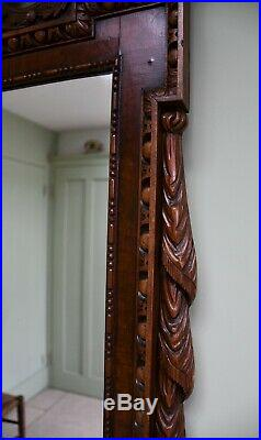 Fine 19th Century William Kent Style Carved Walnut Eagle Hall Side Table Mirror