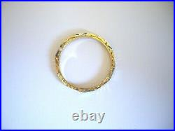 Fine Antique 18ct Solid Gold Ring W' Beautiful Full Circle Carved Floral Design