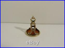 Fine Antique Carved Love Birds Intaglio Pocket Watch Chain Agate Wax Seal Fob