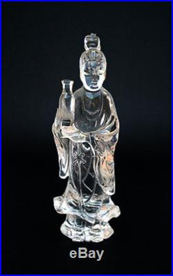 Fine Antique Chinese Rock Crystal Guanyin Carving