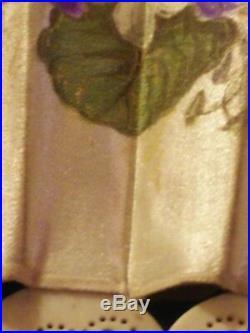 Fine Antique French Signed Art Nouveau Hand Painted Carved Brise Fan