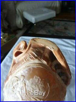 Fine Antique Italian Carved Cameo Conch Shell Grand Tour Lamp On Stand