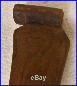 Fine Antique Northwest Coast Native American Carved & Painted Ceremonial Paddle