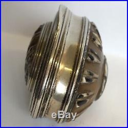Fine Antique Regency 19th Century Carved Shell Silver Snuff Box 6.5cm