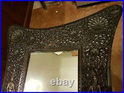 Fine Antique carved Indian mirror c1920