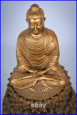 Fine Art Sitting Buddha Carved in Basalt Stone from Myanmar
