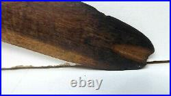 Fine Australian Aboriginal Carved Wooden Hunting Boomerang Fire Hardened Ends