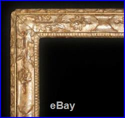Fine C17th Carved Silver Gilt'Lely' Picture Frame. Sight Size 30 1/2 x 21 1/4
