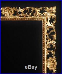 Fine C19th Florentine Carved Giltwood Picture Frame Sight Size 23 1/4 x 19 1/4