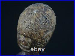 Fine Carved Antique Wood Dinka Female Sculpture Figure South Sudan 7.5