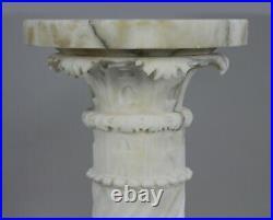 Fine Carved Carrara Marble Pedestal