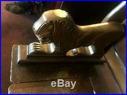 Fine Carved Oak Arts & Crafts Monks Bench/side Table/storage