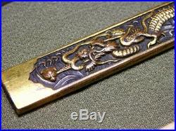 Fine Carving Dragon KOZUKA 18-19thC Japanese Edo Samurai Tsuba Koshirae Antique