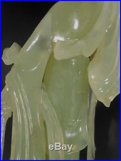 Fine China Chinese Hard Stone Carved Figure of Guan Yin ca. 20th century 1