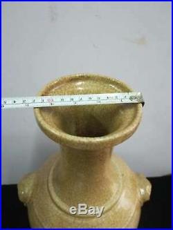 Fine Chinese Guan Kiln Porcelain Cracks Vases Pot Hand-Carved Song Dynasty