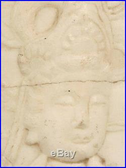 Fine Chinese Hand Carved Marble Wall Plaque Quan Kwan Guan Yin Buddhism