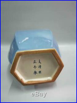 Fine Chinese Pure Light Blue Glaze Porcelain Vases Hand-Carved Marks YongZheng