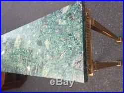 Fine Console Side Table with Green Marble Top Gold Antique Style
