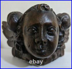 Fine Early 17th Century Carved Oak Church Beam End Angel