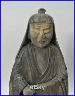 Fine Early 18th C. CHINESE Carved Wood Figure of KWAN YIN c. 1725 antique