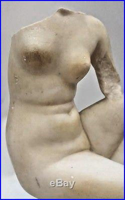 Fine Hand Carved 19 Century Marble Nude Torso Statue MAGNIFICENT