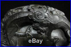 Fine Heavy Old Chinese Hand Carving Dragon Ink Stone Ink Slab Mark