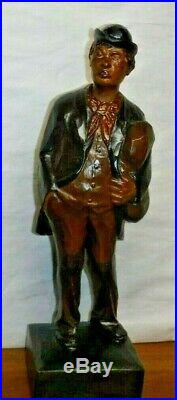 Fine Karl Griesbaum Hobo Whistler Automaton German Carved Wood Serviced Working