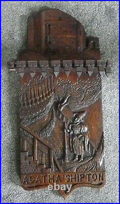 Fine Large Antique Carved Oak Agatha (Mother) Shipton Spoon Rack