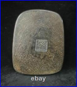 Fine Large Heavy Old Chinese Hand Carving Dragon Gourd Ink Stone Inkslab Mark