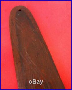Fine Large Oceanic Polynesian Australian Aboriginal Carved Wooden Bull Roarer Vf