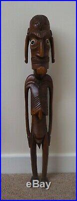 Fine Massive Vintage Polynesian Easter Island Carved Wooden Oceanic Moai Figure