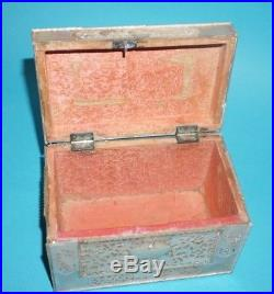 Fine Museum Quality Antique 18th Chinese Hand Carved Mother Of Pearl Box Casket