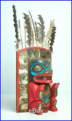 Fine Northwest Coast Tlingit Cherokee Carving by Ivan Otterlifter
