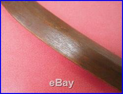 Fine Old Antique Oceanic Polynesian Carved Wooden Niue Island Curved War Club