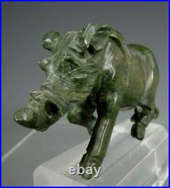 Fine Old China Chinese Carved Jade Statue of a Wild Boar ca. Early 20th century