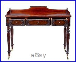 Fine Quality 19th Century Carved Mahogany Danish Writing Table