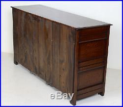 Fine Quality Antique Carved Oak Sideboard Dresser Base Arts & Crafts Country