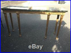 Fine Quality Console Side Table with Green Marble Top & Gold base Antique Style