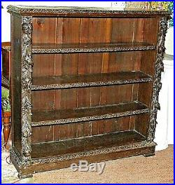 Fine Quality, Mid Victorian Carved Oak Bookcase