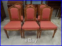 Fine Quality Set of Six Victorian Carved Oak Dining Chairs