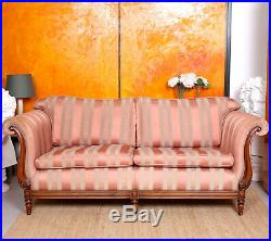 Fine Quality Sofa 3 Seater Carved Mahogany Couch Settee Victorian Style
