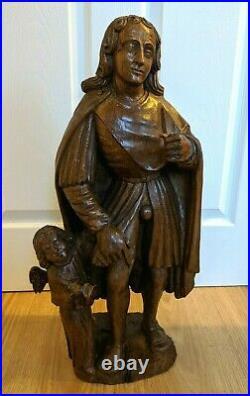 Fine Rare 16th Century Carved Oak Sculpture Antwerp circa 1550 -1600