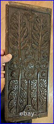 Fine Rare 16th Century Elizabethan Carved Oak Panel c1600